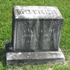 Ada Savana Carter Bailey (1856-1923) - Find A Grave Memorial