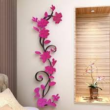 Us 3d Beautiful Flower Mirror Wall Decals Stickers Diy Art Home Room Vinyl Decor Fashion Home Garden Ho Flower Wall Decals Sticker Wall Art Diy Flower Wall