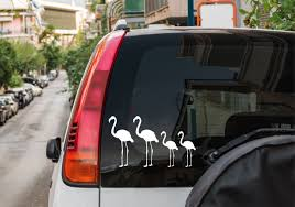 Flamingo Family Stickers Car Window Decal Free Shipping Etsy