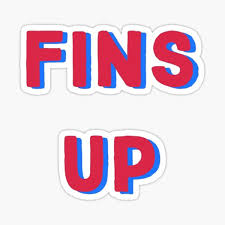 Fins Up Stickers Redbubble