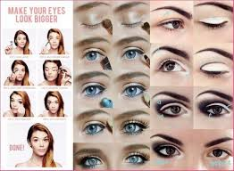 your eyes look bigger with makeup