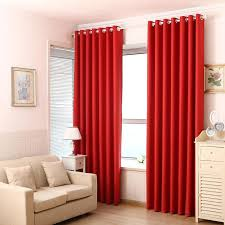 2020 Red Curtains Pure Black Blockout Curtains French Window Door Curtain Double Shading Cloth For Living Room Bedroom 6 5 From Jie123jie 42 40 Dhgate Com