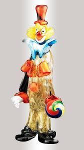 murano glass clown with ball murano