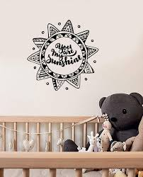 Vinyl Wall Decal Sun Mandala Nursery Bedroom Kids Room Quote Decor Sti Wallstickers4you