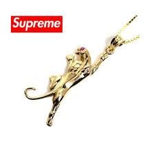 supreme seahorse 14k gold pendant
