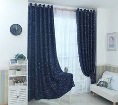 2020 Navy Blue Star Curtains For Kids Room Lovely Printed Curtains For Boys Bedroom Baby Room Window Drapes 123 30 From Brendin 20 83 Dhgate Com
