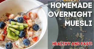 homemade overnight muesli healthy