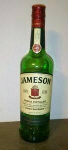 jameson irish whiskey bottle w cap 750