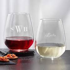 personalized wine glasses luigi