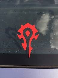 Red Horde Decal Sticker World Of Warcraft Wow Pc Gaming Window Bumper Laptop Ebay