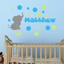 Elephant With Personalized Name Colored Bubbles Wall Decal Decal The Walls