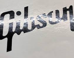Gibson Guitar Decal Etsy