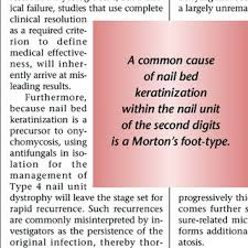 the pathogenesis of nail unit dystrophy