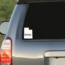 Utah Home State Car Decal Sticker Car Decals Baseball Monogram Decal Car Decals Stickers