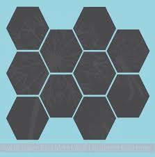 Hexagon Wall Stickers Shapes Vinyl Decals Honeycomb Art Decor 9inch
