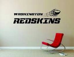 Washington Redskins Wall Mural Vinyl Decal Sticker Decor Nfl Football Rugby Logo Ebay