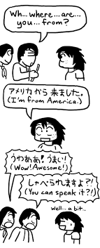 On being American in Japan | I think in comics.