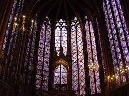 stained glass windows in the chapelle