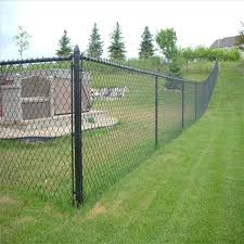 Cyclone Fence In 2020 Black Chain Link Fence Chain Fence Chain Link Fence Installation