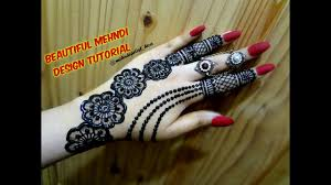 stylish simple easy mehndi design