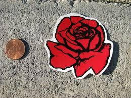 Vinyl Helmet Sticker Decal Red Rose Flower Roses Biker Women Hard Hat Decoration Fashion Home Garden H Funny Vinyl Decals Hard Hat Stickers Red Rose Flower