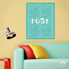 Roar Of A Tiger Wall Quote Message Wall Decal Sticker Room Decor Art Wallternatives