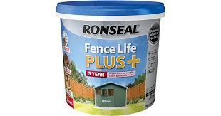 Ronseal Fence Life Plus Wood Paint Green 5l Compare Prices Now