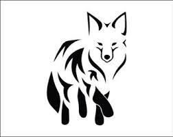 Fox Decal Beautiful Car Decal Vinyl Decal Wildlife Lover Car Sticker Girly Yeti Tumbler Woodlands Animal Tumbler Fox Tattoo Design Tribal Fox Fox Tattoo