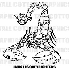 Scorpion Metal Steampunk Style Design Custom Vinyl Decal