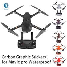 7 Color Waterproof Carbon Graphic Stickers For Dji Mavic Pro Colorful Skin Decals For Drone Body Remote Control Battery Arm Stickers For Stickers Stickersstickers Waterproof Aliexpress