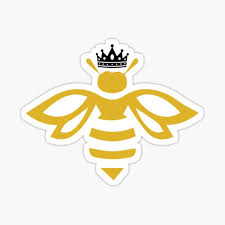 Queen B Queen Bee With A Crown T Shirt Sticker By Yarkos Redbubble