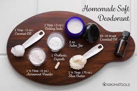 homemade soft deodorant aromatools