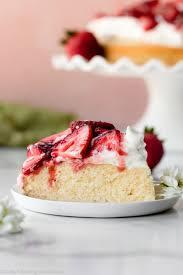 one layer strawberry shortcake cake