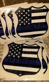 Decal Support Police Back The Blue Sticker Cop Decal For Your Auto Window Support Law Enforcement Police Decal Police Support Supportive