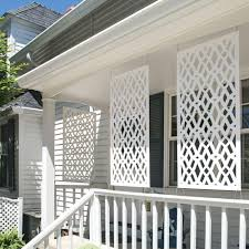 Tuffbilt Celtic 4 Ft X 2 Ft White Polymer Decorative Screen Panel 73004780 The Home D In 2020 Outdoor Screen Panels Decorative Screen Panels Patio Privacy Screen