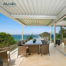 motorised louver roof system louvered
