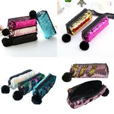 sequins glitter cosmetic bag pencil box