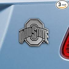 Amazon Com Sports Licensing Solutions Ohio State Buckeyes Real Chrome Metal Auto Emblem Sports Outdoors