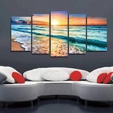 beach ocean sea sunset paintings