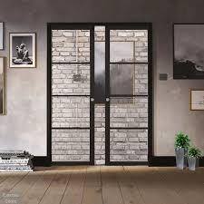 black soho glazed pocket door set