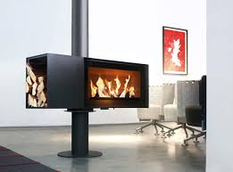 15 hanging and freestanding fireplaces