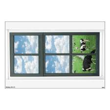 Frisian Holstein Cows Fake Window View Wall Decal Zazzle Com