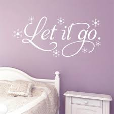 Let It Go Cartoon Wall Quote Stickers Vinyl Decal Living Room Home Decoration Nursery Decor Nursery Decor Home Decorwall Quotes Aliexpress