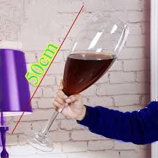 super large champagne glass hanap
