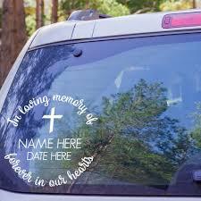 In Loving Memory Car Decal Forever In Our Hearts Custom Memorial Vinyl Loving Memory Car Decals In Loving Memory Memories