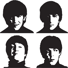 1pa002 Beatles Wall Decal Sticker Vinylized Graphics
