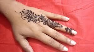 mehandi design for hand fingers