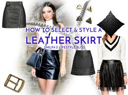 winter leather skirt outfit