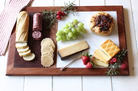 cutting board w marble cheese plate