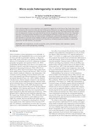 pdf micro scale heterogeneity in water
